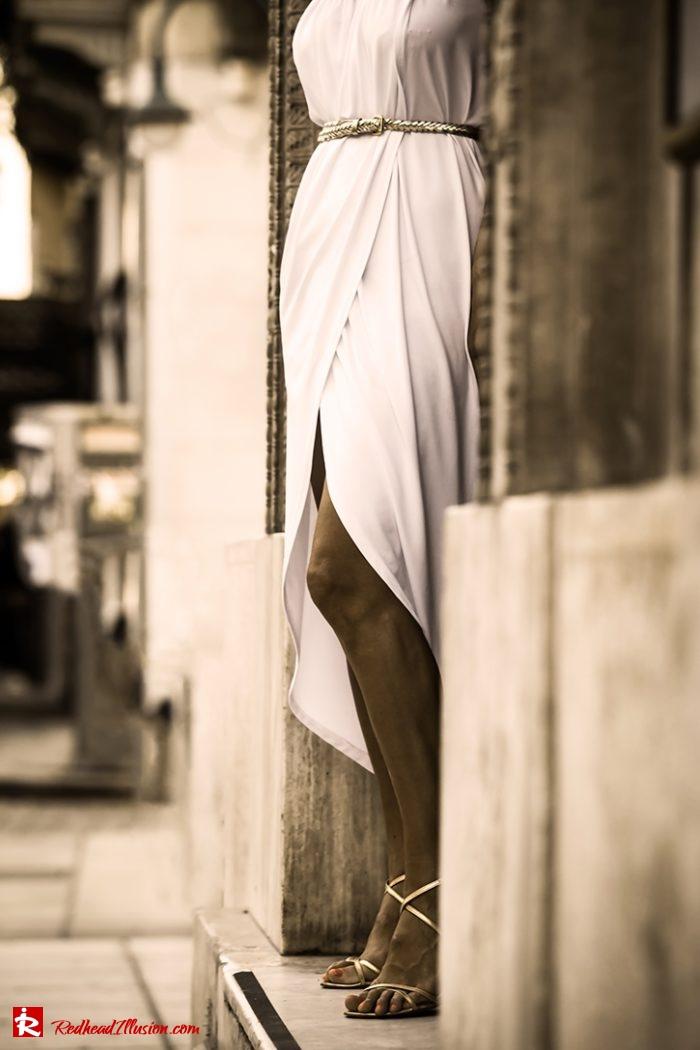Redhead Illusion - Fashion Blog by Menia - Editorial - Grecian style - Dress-05