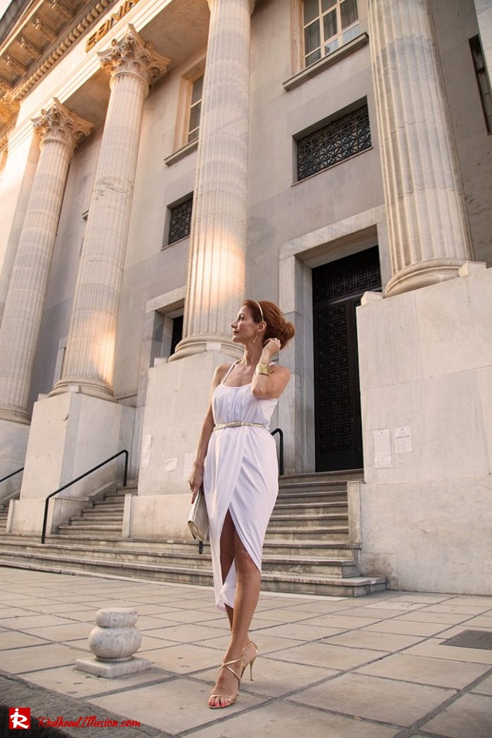 Redhead Illusion - Fashion Blog by Menia - Editorial - Grecian style - Dress-06