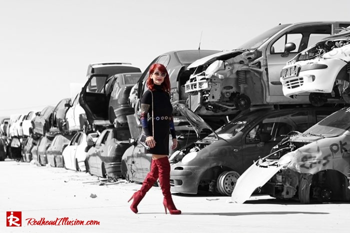 Redhead Illusion - Fashion Blog by Menia - Editorial - Layering - Denny Rose - Blouse - Over the knee Boots-02