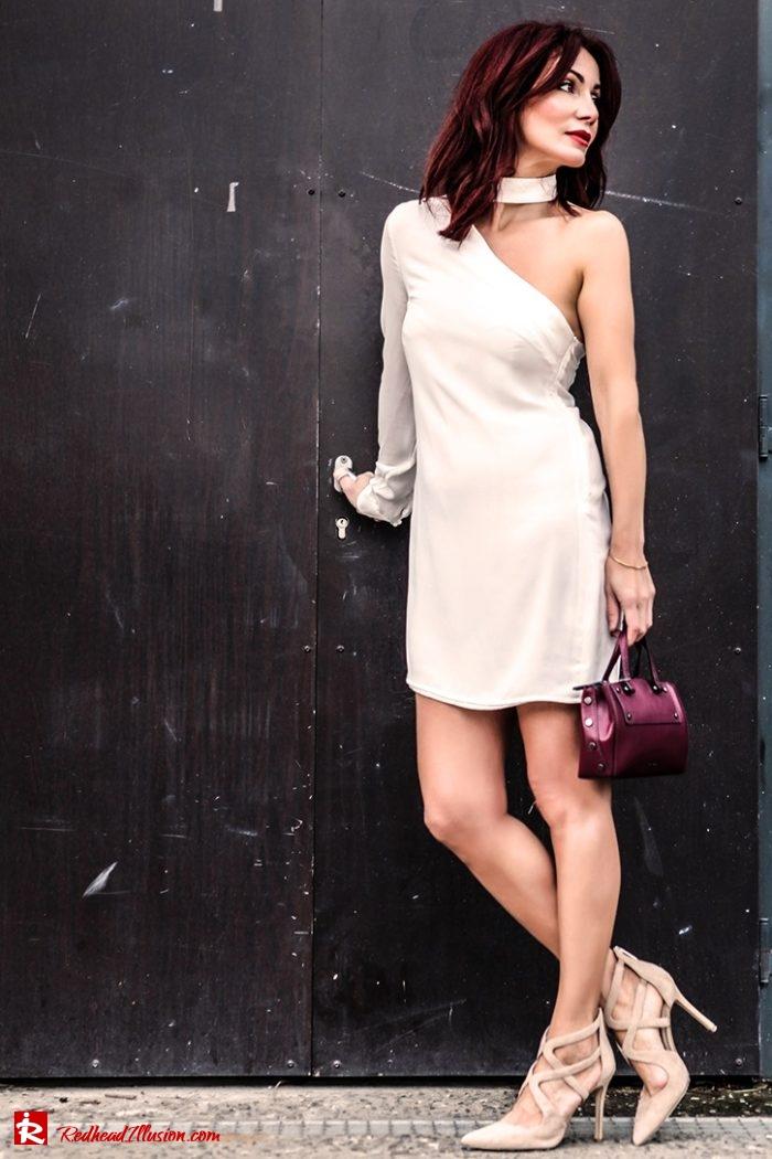 Redhead Illusion - Fashion Blog by Menia - Editorial - Mini Winter White - Mmissguided Dress-02