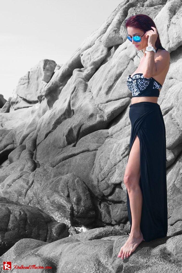 Redhead Illusion - Fashion Blog by Menia - Editorial - On the rocks - Peter Pilotto Bikini Top-05