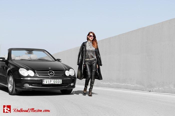 Redhead Illusion - Fashion Blog by Menia - Editorial - Powerful leather - Balmain Trench Coat - Zara Pants-08