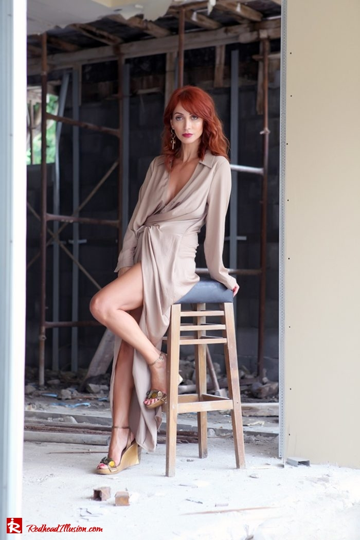 Redhead Illusion - Fashion Blog by Menia - Editorial - Under Construction - Missguided Dress - Suzy Smith Bag-06