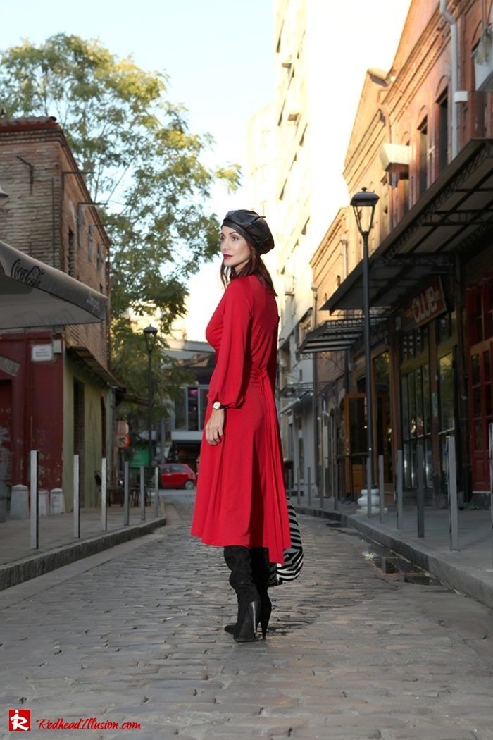 Redhead Illusion - Fashion Blog by Menia - Rouge et Noir - Dress - Otk Boots-05