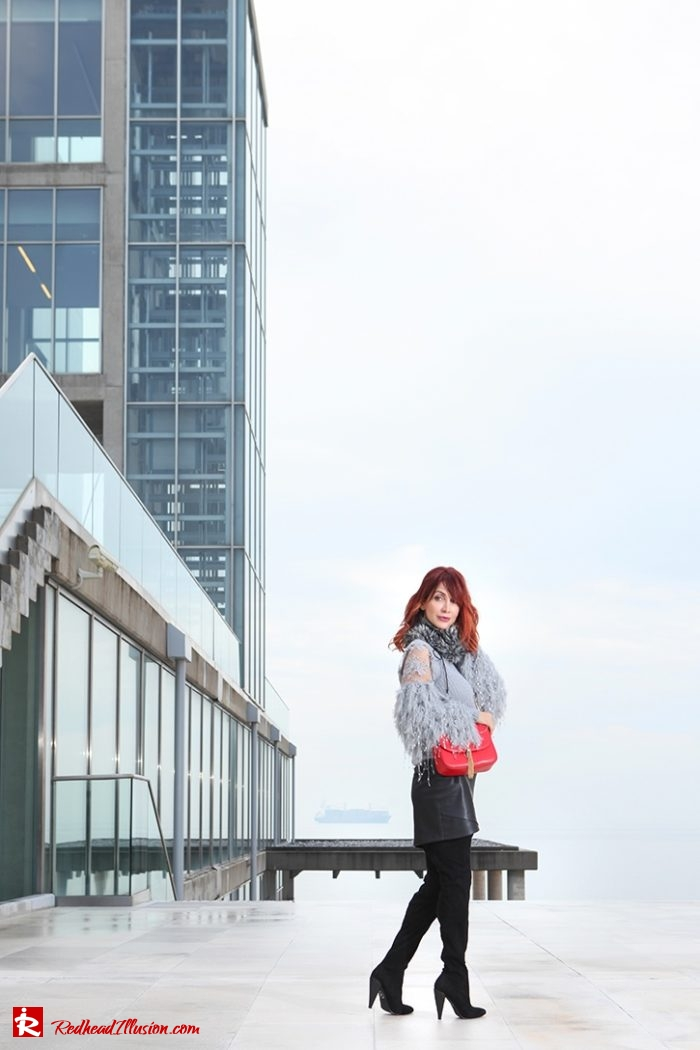Redhead Illusion - Fashion Blog by Menia - Sophisticated Grey - Missguided OTK Boots-02a