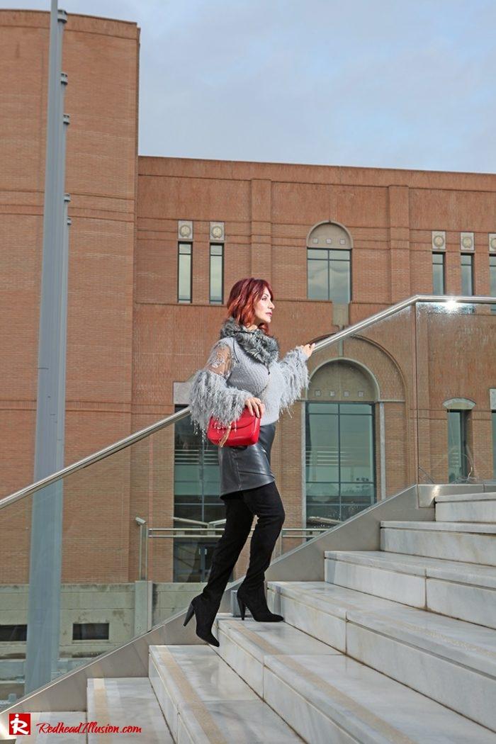 Redhead Illusion - Fashion Blog by Menia - Sophisticated Grey - Missguided - OTK Boot-03
