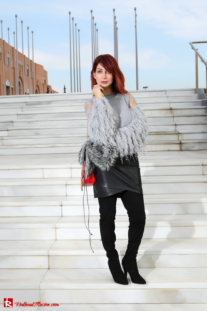 Redhead Illusion - Fashion Blog by Menia - Sophisticated Grey - Missguided OTK Boots-09a