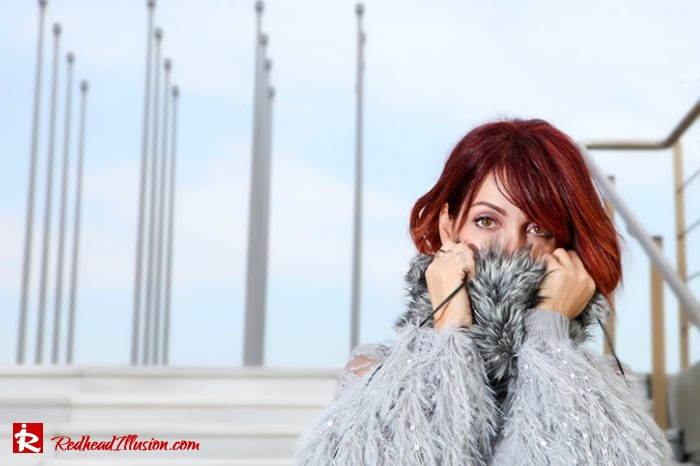 Redhead Illusion - Fashion Blog by Menia - Sophisticated Grey - Missguided OTK Boots-10a