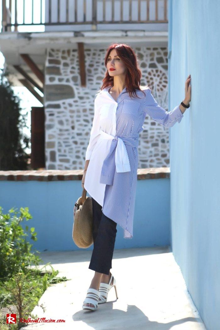 Redhead Illusion - Fashion Blog by Menia - Get shirty - Striped Shirt-06