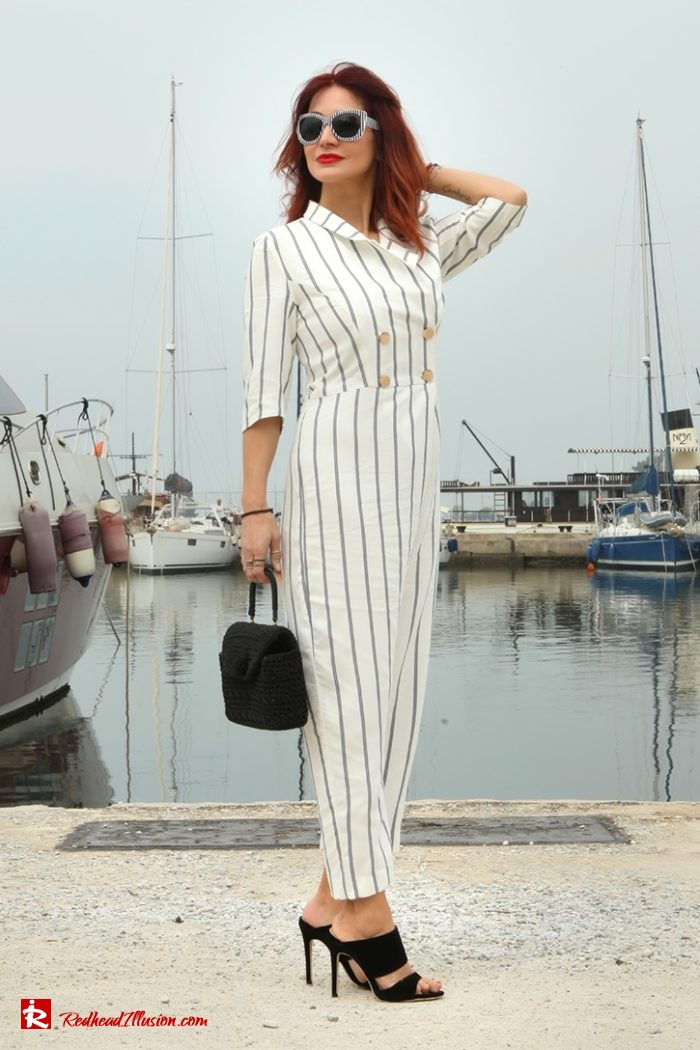 Redhead Illusion - Fashion Blog by Menia - Back to stripes - Asos Jumpsuit-03