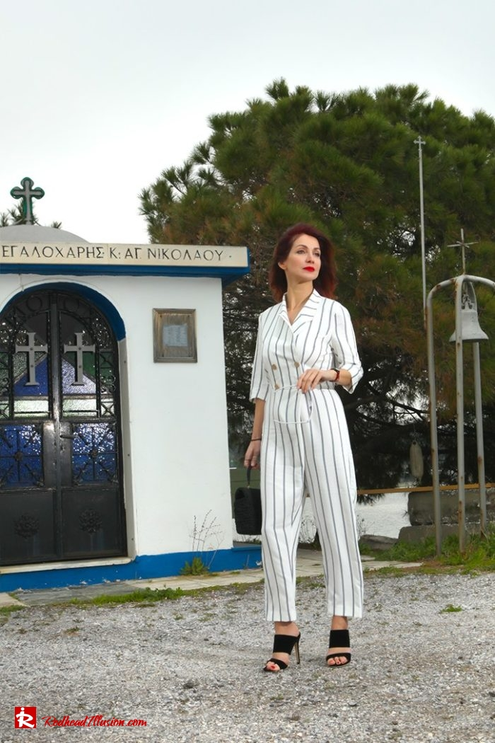 Redhead Illusion - Fashion Blog by Menia - Back to stripes - Asos Jumpsuit-06