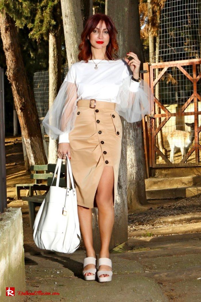 Redhead Illusion - Fashion Blog by Menia - Some skirts go everywhere - Denny Rose Blouse-02