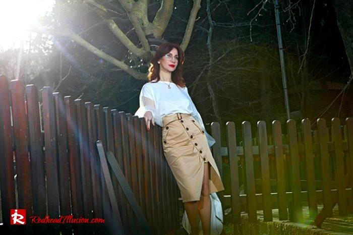 Redhead Illusion - Fashion Blog by Menia - Some skirts go everywhere - Denny Rose Blouse-06