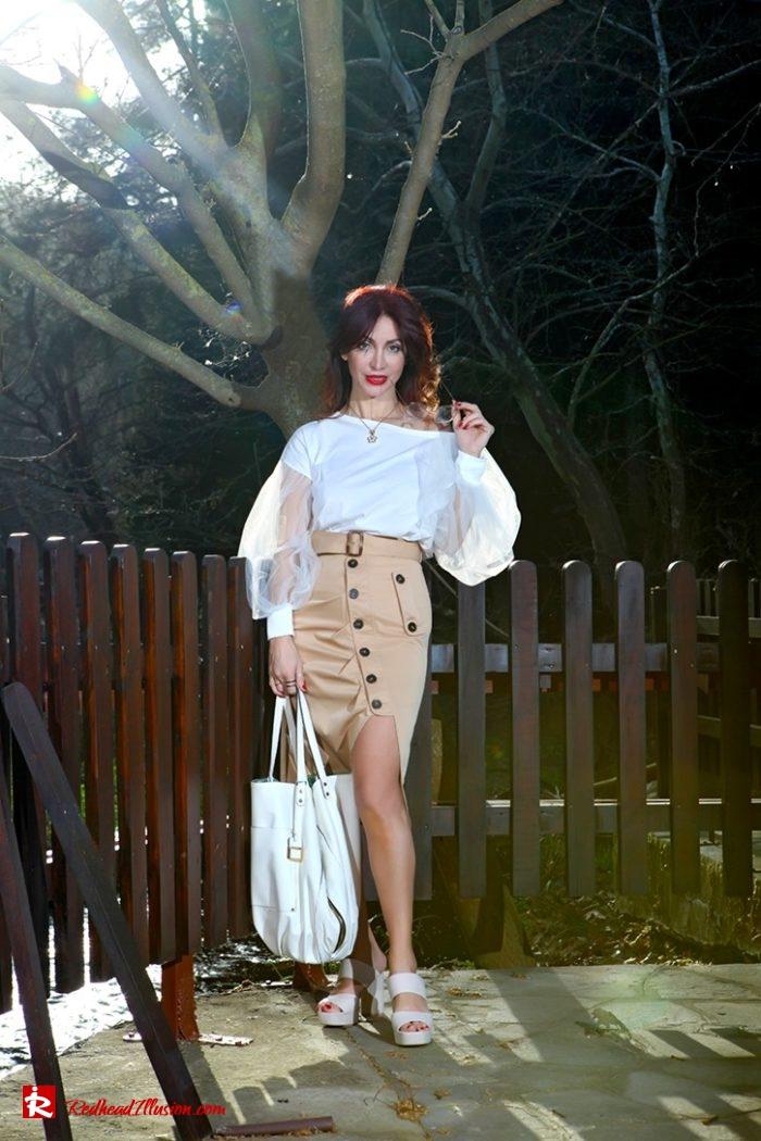 Redhead Illusion - Fashion Blog by Menia - Some skirts go everywhere - Denny Rose Blouse-07