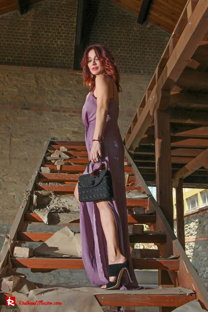 Redhead Illusion - Fashion Blog by Menia - Purple Power - Missguided Jumpsuit-03