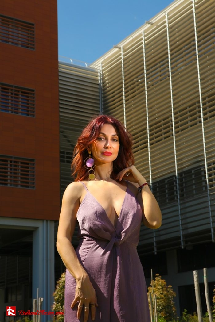 Redhead Illusion - Fashion Blog by Menia - Purple Power - Missguided Jumpsuit-09