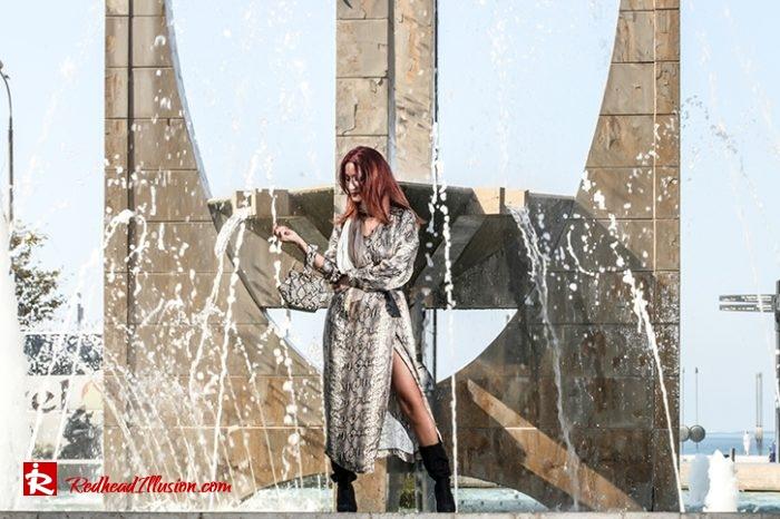 Redhead Illusion - Fashion Blog by Menia - Snake Print Dress 70's Style - Zara-04