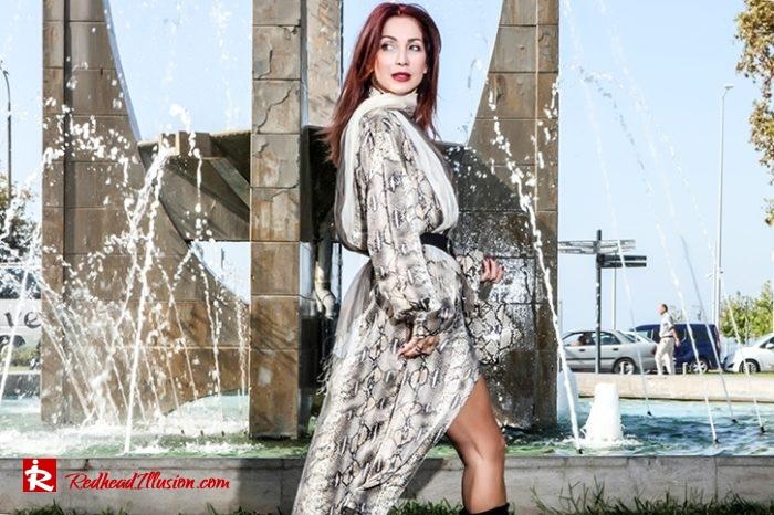 Redhead Illusion - Fashion Blog by Menia - Snake Print Dress 70's Style - Zara-05