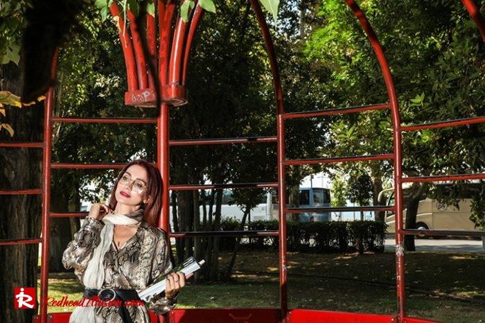 Redhead Illusion - Fashion Blog by Menia - Snake Print Dress 70's Style - Zara-06