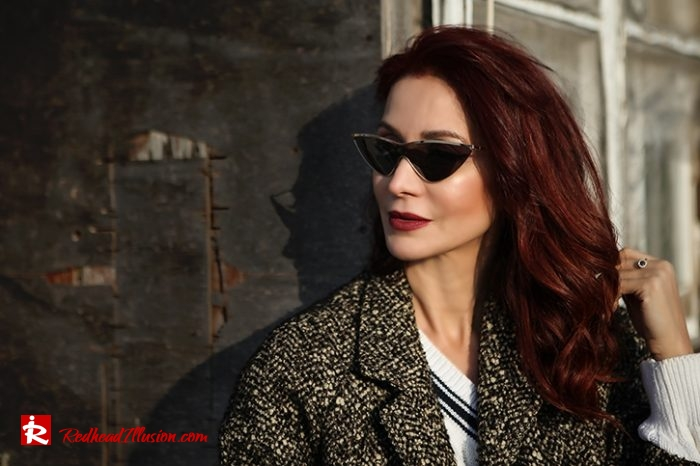 Redhead Illusion - Fashion Blog by Menia - Why You Should Steal A Man's Closet - Vintage coat, Oversized Sweater-13