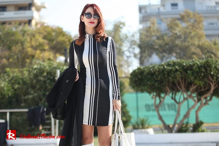Redhead Illusion - Fashion Blog by Menia - Vertical Striped Dresses-02