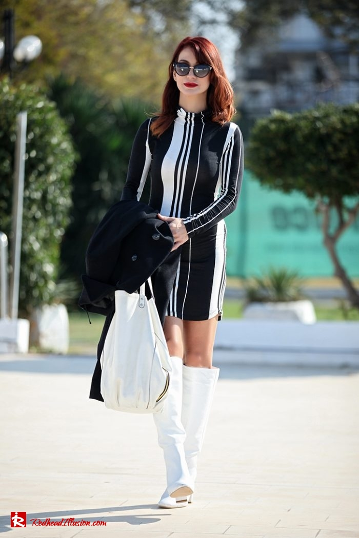 Redhead Illusion - Fashion Blog by Menia - Vertical Striped Dresses-03