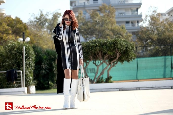 Redhead Illusion - Fashion Blog by Menia - Vertical Striped Dresses-04