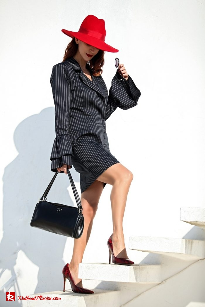 Redhead Illusion - Fashion Blog by Menia - Vertical Striped Dresses-12