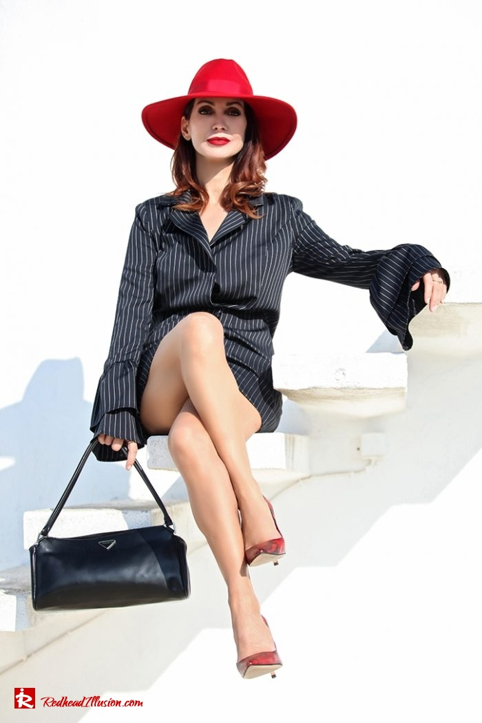 Redhead Illusion - Fashion Blog by Menia - Vertical Striped Dresses-15