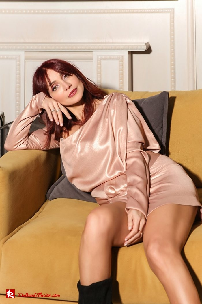 Redhead Illusion - Fashion Blog by Menia - Metallic Mini Dress - Missguided Mini Metallic Dress-04