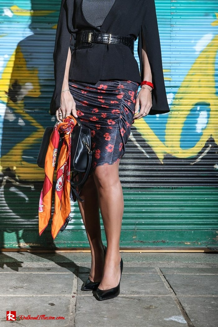 Redhead Illusion - Fashion Blog by Menia - Draped Floral Skirt-04
