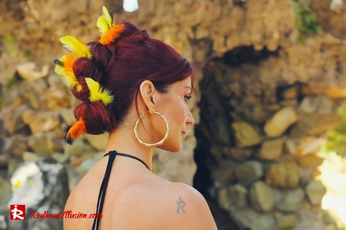 Redhead Illusion - Fashion Blog by Menia - Beach Crochet Pants-07