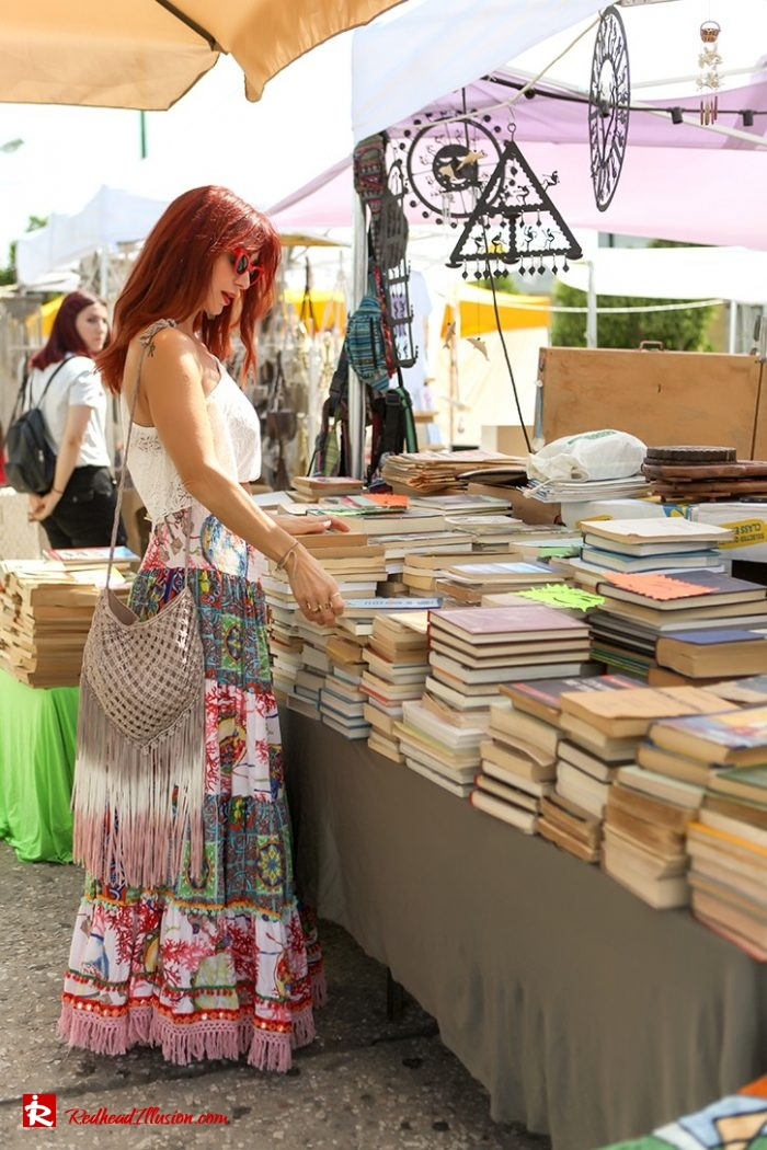 Redhead Illusion - Fashion Blog by Menia - Boho mood in Flea Market-03