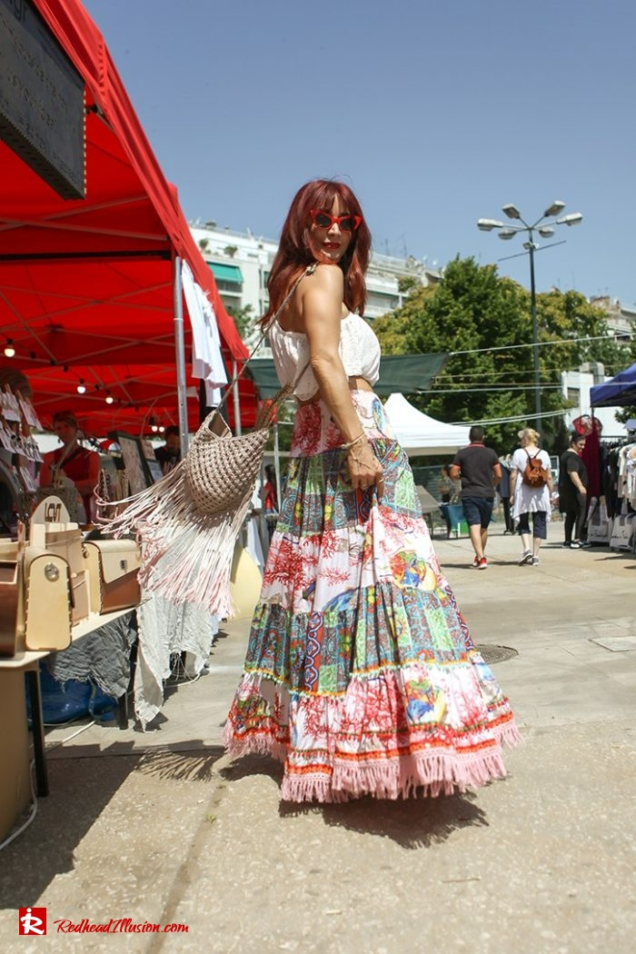 Redhead Illusion - Fashion Blog by Menia - Boho mood in Flea Market-09