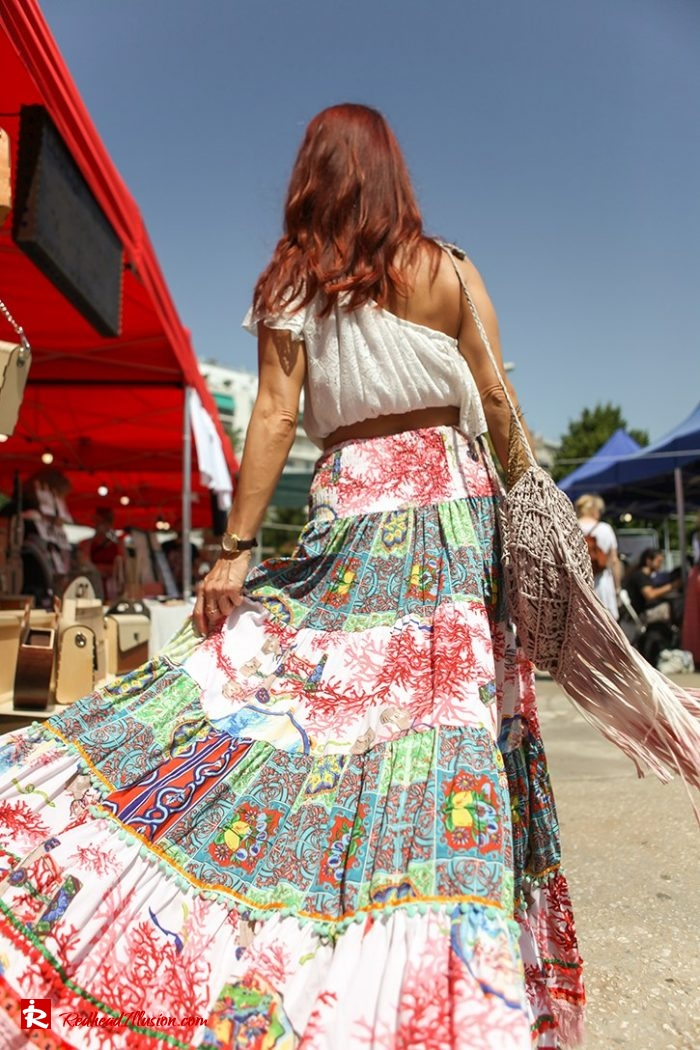 Redhead Illusion - Fashion Blog by Menia - Boho mood in Flea Market-14