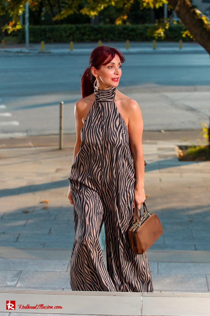 Redhead Illusion - Fashion Blog by Menia - Elegant and Sexy Zebra Jumpsuit-06