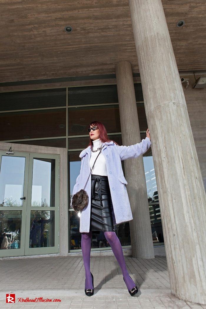 Redhead Illusion - Fashion Blog by Menia - Lavender Faux Fur Coat - Topshop-02