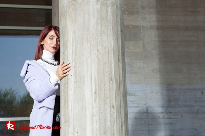 Redhead Illusion - Fashion Blog by Menia - Lavender Faux Fur Coat - Topshop-03