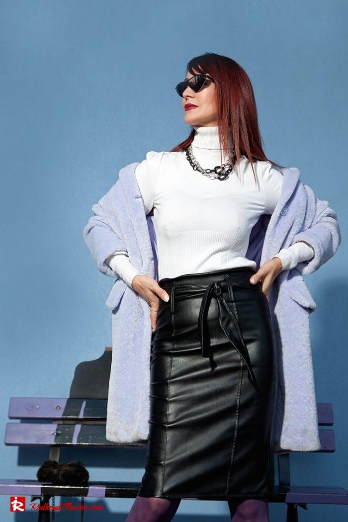 Redhead Illusion - Fashion Blog by Menia - Lavender Faux Fur Coat - Topshop-05