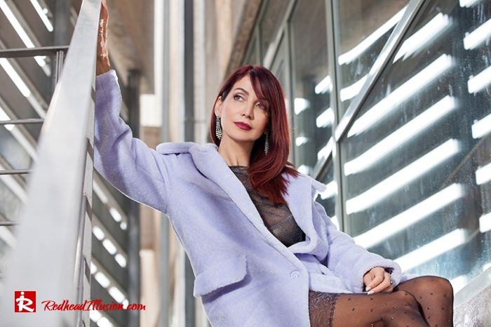 Redhead Illusion - Fashion Blog by Menia - Lavender Faux Fur Coat - Topshop-08