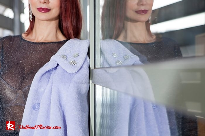 Redhead Illusion - Fashion Blog by Menia - Lavender Faux Fur Coat - Topshop-10