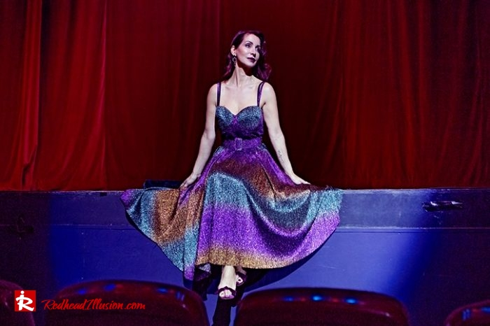 Redhead Illusion - Fashion Blog by Menia - Multicolored Lurex Ball Dress-05