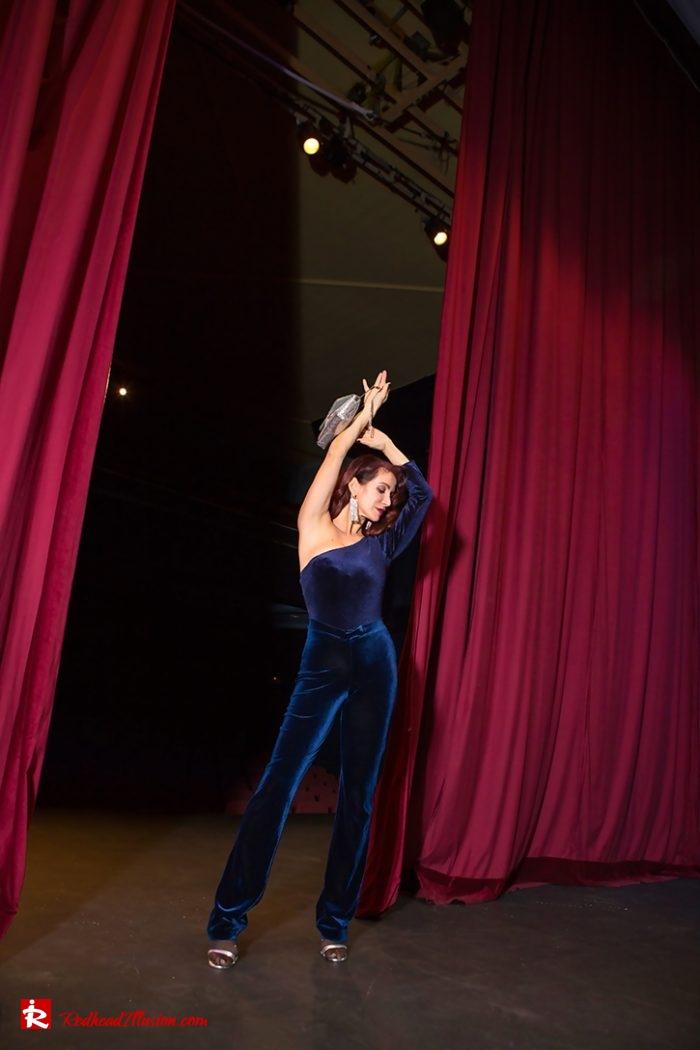 Redhead Illusion - Fashion Blog by Menia - Nights in Blue Velvet-06
