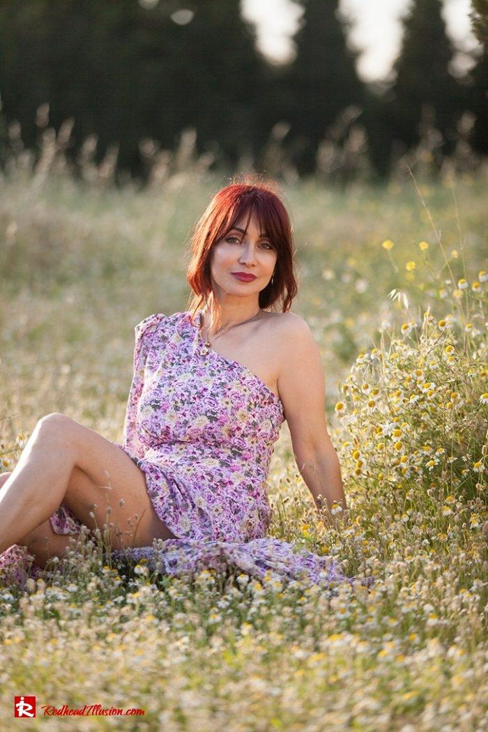 Redhead Illusion - Fashion Blog by Menia - Dress with flowers-04