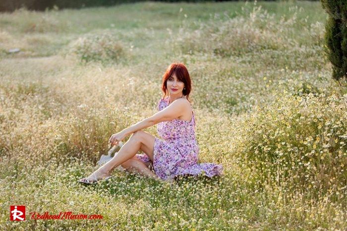 Redhead Illusion - Fashion Blog by Menia - Dress with flowers-05