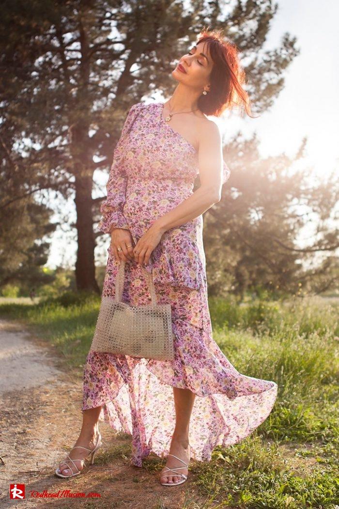 Redhead Illusion - Fashion Blog by Menia - Dress with flowers-08