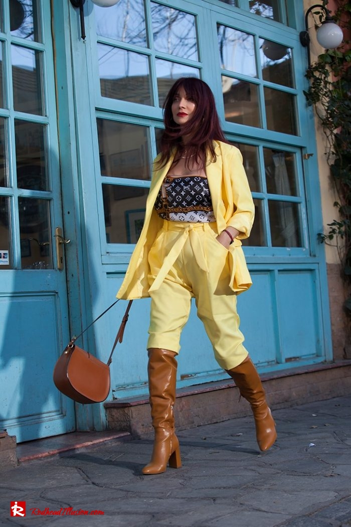 Redhead Illusion - Fashion Blog by Menia - Yellow Suit - Missguided-01-01