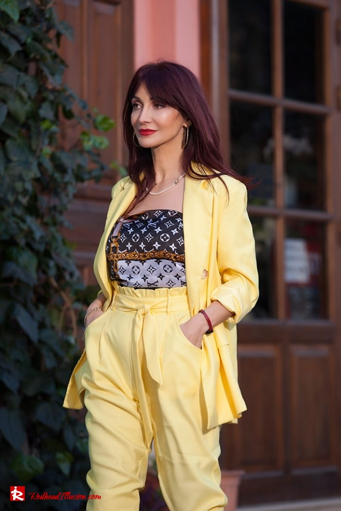 Redhead Illusion - Fashion Blog by Menia - Yellow Suit - Missguided-01-04