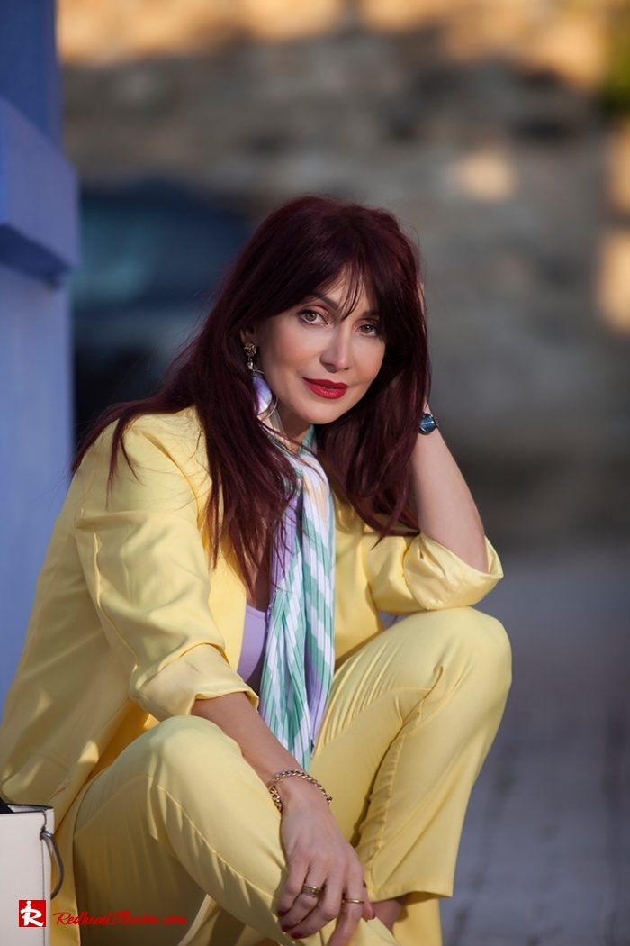 Redhead Illusion - Fashion Blog by Menia - Yellow Suit - Missguided-02-01