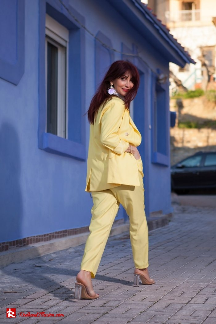Redhead Illusion - Fashion Blog by Menia - Yellow Suit - Missguided-02-03